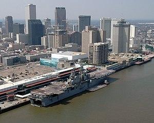 USS Iwo Jima (LHD-7) - USS Iwo Jima pier side in New Orleans