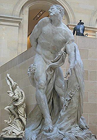 Calabrian wine - Pierre Puget's 1682 sculpture of Milo of Croton at the Louvre.