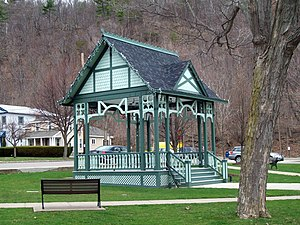 Hammondsport, New York - Bandstand in Pulteney Square, April 2011
