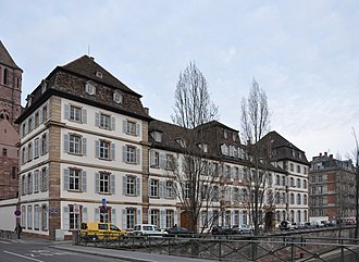 Protestant Church of Augsburg Confession of Alsace and Lorraine - The Lutheran Consistoire supérieur (supreme consistory) in Strasbourg, towered by St. Thomas Lutheran Church