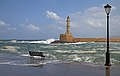Quay and Lighthouse in Chania. Crete, Greece.jpg