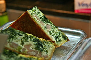 Quiche - Quiche with spinach
