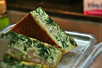 Quiche - Quiche with spinach