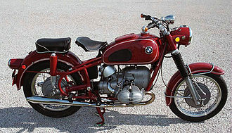 Suspension (motorcycle) - Telescopic forks on a 1969 BMW