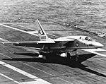 RA-5C Vigilante of RVAH-1 landing on USS Saratoga (CVA-60) in 1969.jpg