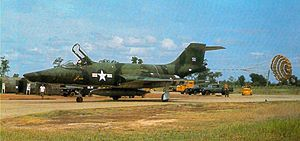 McDonnell F-101 Voodoo - A 33rd Tactical Group RF-101A (s/n 54-1512) after landing at Udorn, Thailand (later transferred to Tan Son Nhut) c1965