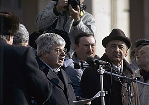 Russian presidential referendum, 1991 - Image: RIAN archive 426698 Moscow Mayor Gavriil Popov speaking at a rally