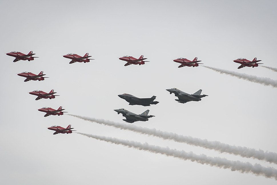 RIAT 2016 F-35B Typhoons Red Arrows