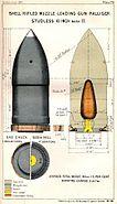 RML 10 inch Palliser studless shell Mk II diagram