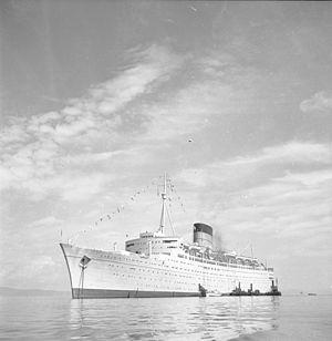 RMS Caronia - Image: RMS Caronia (ca. 1956)