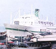 Die Empress of Canada in Liverpool, 1971