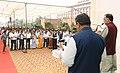 Radha Mohan Singh administering the Rashtriya Ekta Diwas pledge to the officials of the Ministry, on the occasion of Sardar Vallabhbhai Patel's birth anniversary, in New Delhi.jpg