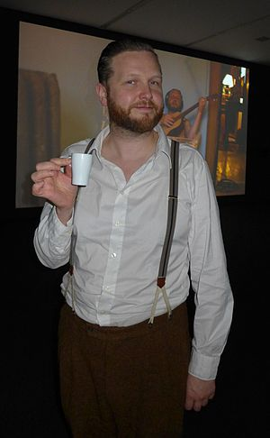 Ragnar Kjartansson (performance artist) - Ragnar Kjartansson in his installation, Migros Museum, Zürich, 2012