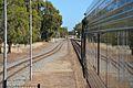 Rail crossing from platform, Merredin,2014.jpg
