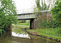 Railway Bridge, Worcester and Birmingham Canal - geograph.org.uk - 1353642.jpg