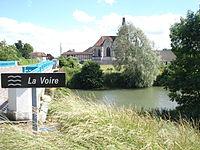 Rances (Aube, Fr), vue du pont sur la Voire.JPG