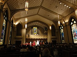 File:Rayne Memorial United Methodist Church interior New Orleans wedding.jpg. By: http://www.flickr.com/people/11018968@N00 Bart Everson