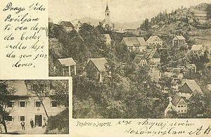 Jagršče - 1910 postcard of Jagršče