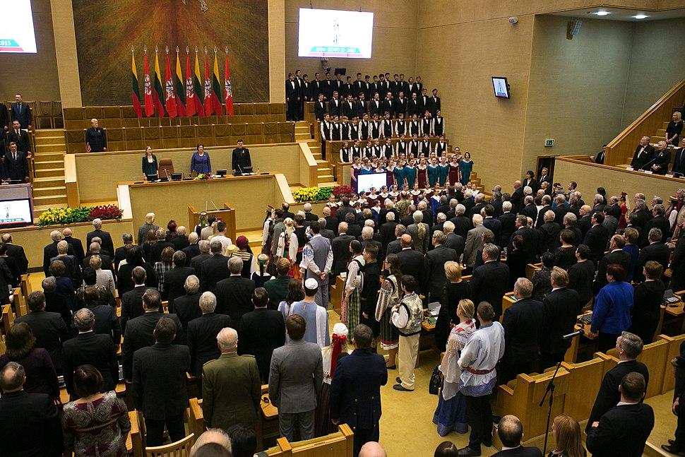 Re-Establishment of Lithuania commemoration in Seimas (2015)