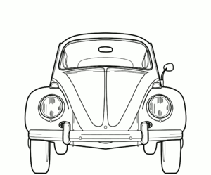 line drawing of a classic bug