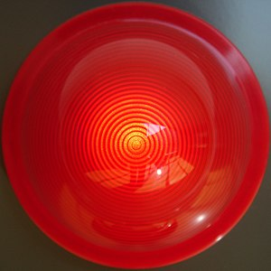 Red emergency light