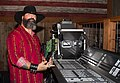 Redneck Country Club FOH (sound control booth) - engineer tweaking Soundcraft Vi4 digital live sound console (2015-05-31 01.14.46 by Redneck Country Club).jpg