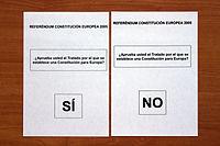 Referendum Constitución europea 2005 España (1).JPG