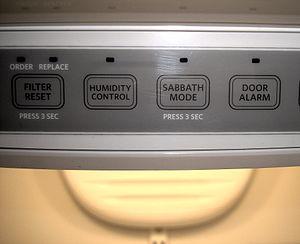Sabbath mode - A refrigerator displaying the Sabbath Mode.
