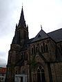 Regen September 2013 Evangelische Stadtkirche Tann.JPG