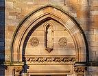 Relief above the door to Queen's Park Baptist Church, Glasgow, Scotland 18.jpg