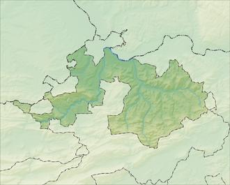 Reliefkarte Basel-Landschaft blank