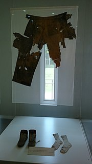 Remains of clothing worn by Rajiv Gandhi during his assassination