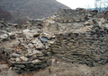 Remains of the Fortified church of St. Iliya in the Urvich Fortress near Sofia, Bulgaria.png