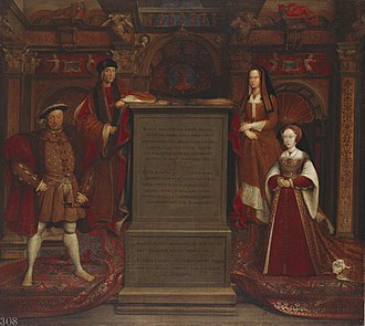 Portrait of Henry VIII - Copy in oils of the Whitehall mural, commissioned by Charles II, 1667