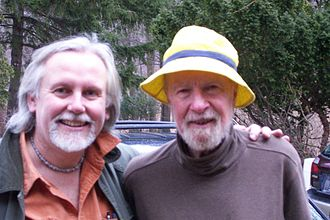 Pete Seeger - Pete Seeger (right), 88 years old, photographed in March 2008 with his friend, the writer and musician Ed Renehan