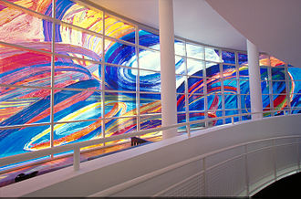 High Museum of Art - Retracings, a digital transparent work by Deanna Sirlin
