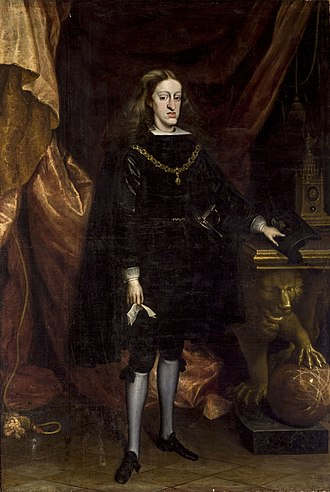 Charles II of Spain - Portrait by Juan Carreño de Miranda, 1685