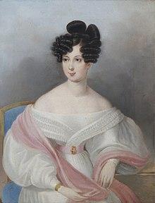 Seine Ehefrau Claudine Gräfin Rhédey von Kis-Rhéde (1812–1841) (Quelle: Wikimedia)