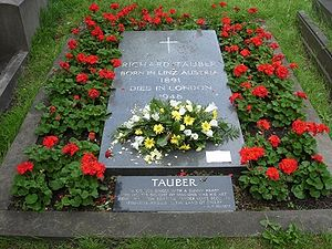 Richard Tauber - Gravestone, Brompton Cemetery, London