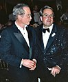 Richard Dreyfus and Allan Carr at the Governor's Ball party after the 1989 Academy Awards.jpg
