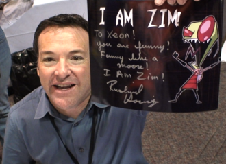 Richard Steven Horvitz - Horvitz with autographed Invader Zim picture at JACON 2009 in Orlando, Florida