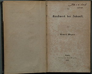 The Artwork of the Future - Titlepage of the first edition