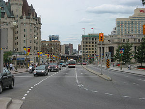 Rideau Street - View toward Rideau Street from Confederation Square
