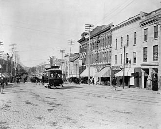 Ottawa Electric Railway - 36 Rideau Street looking east, 1898