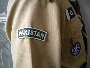 Right side of a Pakistani Scout uniform