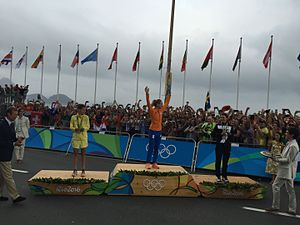 Cycling at the 2016 Summer Olympics – Women's individual road race - Image: Rio 2016 Women's road race (28888824710)