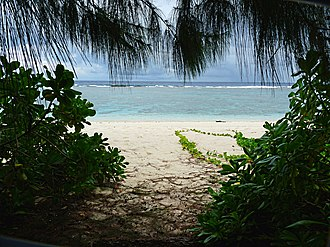 Guam National Wildlife Refuge - The beach off Ritidian Point