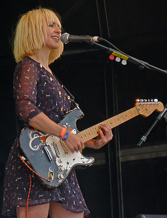 The Joy Formidable - Ritzy Bryan performing at Glastonbury Festival in 2010.