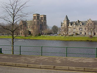 St. Andrew's Cathedral on the banks of the River Ness River Ness.jpg