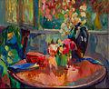 Robert Antoine Pinchon, Vases de fleurs sur le guéridon, oil on canvas, 60 x 73 cm.jpg